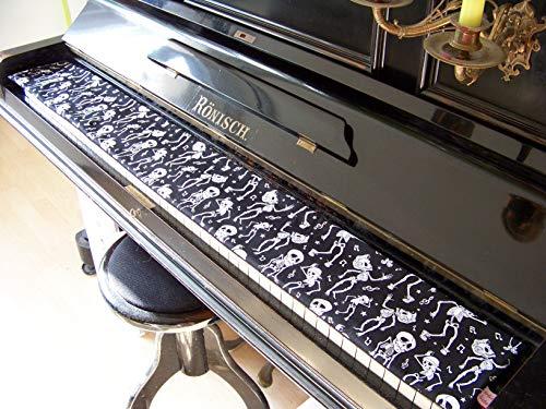 Tastenläufer Halloween für Klavier Keyboard Piano Flügel Längenwahl x Breite 15,5 cm Tastaturabdeckung Klavierabdeckung Tastatur