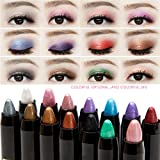 #4: Fission 9 : New Cheap Makeup Shimmer Glitter Eyes Eyeshadow Powder Pigment Waterproof Purple White Single Color Eye Shadow Pencils Make Up