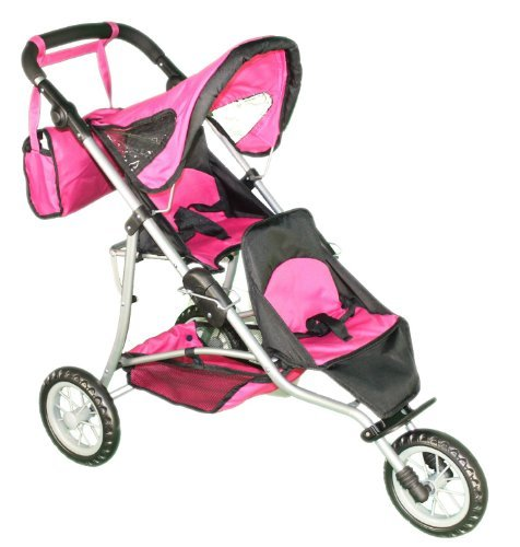 Mommy & Me Doll Twin Stroller and Carriage Bag - 9383 (Stroller Doll Twin)