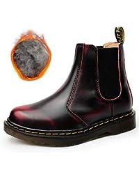 d7d2183020c8a8 SITAILE Unisex-Erwachsene Bootsschuhe Derby Schnürhalbschuhe Kurzschaft Stiefel  Winter Boots für Herren Damen Gefüttert