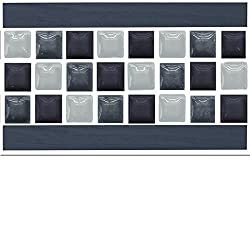 """6"""" Tile Border – 30 Chromati – Tile Border Stickers For 150mm (6 inch) Square Tiles –(PTB 1)- Realistic Looking Stick On Wall Tile Transfers Directly From the Manufacturer: TILE STYLE DECALS, No Middleman -- Peel and Stick on Tile to Transform your Kitchen, Bathroom – Oil-proof, Waterproof Tile Stickers, Heat Resistant Sticks on tile kitchen tiles stickers / Bathrooms Tile Stickers – (6"""" - Pack Of 30, Chromati)"""