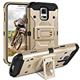BEZ® Samsung Galaxy S5 / S5 NEO Hülle, Handy Schutzhülle Outdoor für Samsung Galaxy S5, S5 NEO [Heavy Duty Serie] Dual Layer Armor Case Stoßfestes hockproof Robuste, Gold