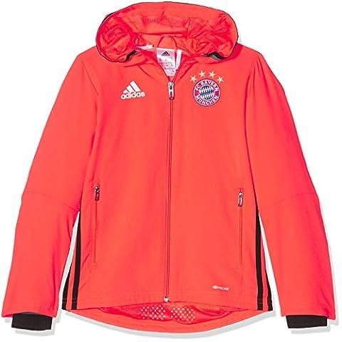 adidas FCB PRES JKT Y -Sweatshirt Ligne FC Bayern pour Garçon, Rouge - 128., Taille: 128.