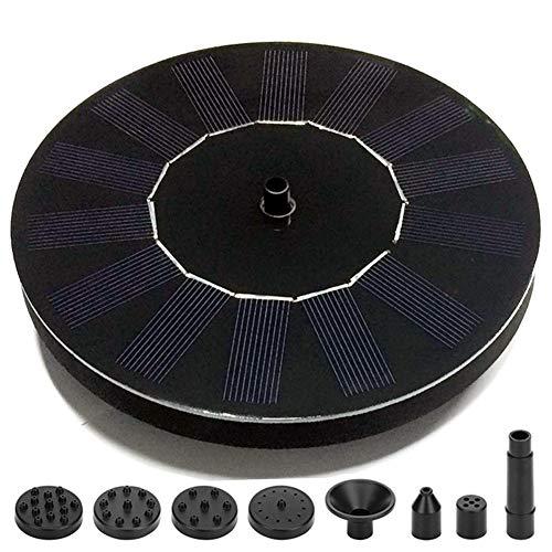 MJLXY Solar Springbrunnen, Solar Teichpumpe mit 1.5W Monokristalline Solar Panel feistehende Teich Solarpumpe,Solar schwimmender Brunnen Wasserpumpe für Vogelbad Teich Pool Garten -