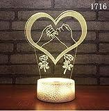 Neue kreative Liebe Ballon 3d Leuchten Valentinstag Geschenk Led Nachtlicht Kinderzimmer Led Kinder Lichter Lampen