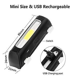 ThorFire Super Helles Rücklicht Fahrradlicht , 120 Lumen USB Wiederaufladbar Hintere Rücklicht Radfahren Lichter, 5 Lichtmodi LED Fahrradlicht alle Fahrräder, Helme oder Rucksäcke by ThorFire