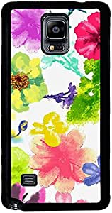 PrintVisa 2D-SGN4-D7950 Pattern Abstract Flower Art Case Cover for Samsung Galaxy Note 4