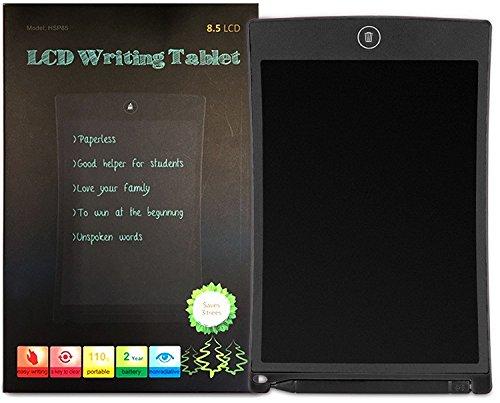 XIDO LCD Writing Tablet, 8,5-Zoll-LCD Digital Schreibtafel Schreiben Pad Grafiktabletts Tablet Pc Writer Elektronische Zeichnung Kinder Notizblock Schreiben und Malen Weihnachtsgeschenk (Schwarz)