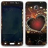 Samsung Galaxy J5 (2015) Case Skin Sticker aus Vinyl-Folie Aufkleber Verliebt Herz Liebe