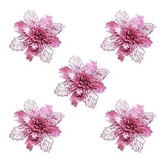 95sCloud-5-Stck-Glitter-Knstliche-Blumen-Baum-Krnze-Ornament-Weihnachtsbaumschmuck-Weihnachten-knstliche-Blume-Weihnachten-Weihnachtsbaum-Kranz-Garland-Ornament-Party