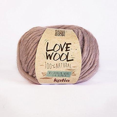 Katia love wool couleur 109 laine d'alpaga & crochet à tricoter