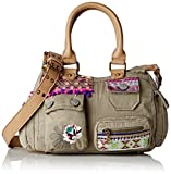 Desigual Damen BOLS_LONDON MINI MILITARY LUXE Schultertasche Grün (4027)