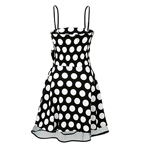 Laeticia Dreams Damen Kleid Petticoat Rockabilly S M L XL Schwarz/Weiß Punkte Groß