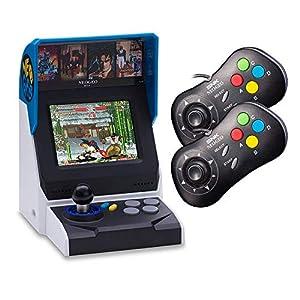 NEOGEO Mini Console: International Edition plus 2 x NEOGEO Mini Black Controllers Bundle (Includes 40 Games)