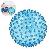 LUDI - Balle sensorielle bleue pour l'éveil de bébé. Adaptée aux enfants dès 6...