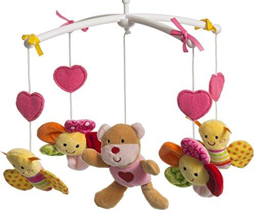 Musikmobile Bär mit Melodie, La Le Lu, pink - Baby Musik Schlafen - Pink, Musikmobile, Melodie, BIECO, Bär, baby einschlafhilfe bett