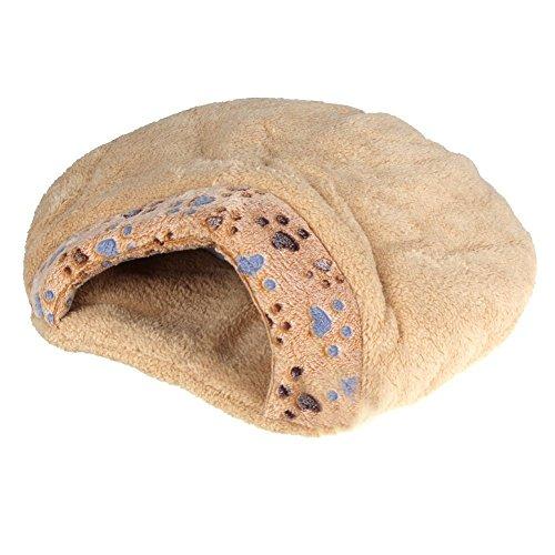 Cama de mitad cubierta de cojin de mascotas - SODIAL(R)Nueva cama de m
