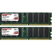 Komputerbay 2 GB DDR PC 3200 - Kit memoria DIMM para PC, 2GB (2 x 1GB), 184 PIN, PC3200, 400MHz, DDR, CL 3