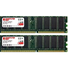 Komputerbay 2 GB DDR PC 3200 - Kit memoria DIMM para PC, 2GB (2 x 1GB), 184 PIN, PC3200, 400MHz, DDR, CL 3