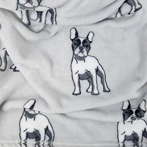 Elite Home Produkte Samt Plüsch Fleece Überwurf Decke 50