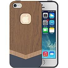 iPhone 5S funda, iPhone 5caso, Slicoo® único hecho a mano madera natural carcasa rígida fina de madera carcasa protectora para iphone 5/iPhone 5S
