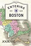 Boston Journal: Beautiful antique Boston Massachusetts Map themed blank journal. (Massachusetts Town Journals, Band 1)