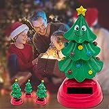 Xploit Car Shaking Head Decoration Albero di Natale oscillante solare Danza Albero di Natale per auto e decorazioni per la casa Interni di Natale Giocattoli per bambini Regalo Scuotimento di bambole