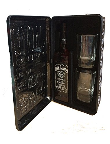 Jack Daniel's Tennessee Whisky in Metallkassette mit 2 Gläsern (1 x 0.7 l) (Jack Distillery Daniels)