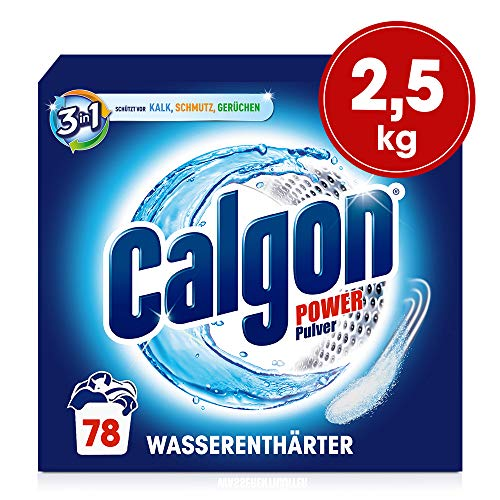 Calgon 3in1 Pulver, Wasserenthärter gegen Kalk und Schmutz in der Waschmaschine, 2.5 kg