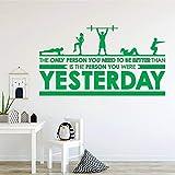 Autocollant pour Fitness Vinyle Art Sticker Mural Fitness Amovible Décalque Centre de Remise En Forme Centre Chambre Chambre Décoration Art Affiche C 84 * 150 cm