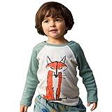Amlaiworld Baby Kinder Jungen Mädchen Langarm Brief drucken T-Shirt Top Outfits (110, Grün)