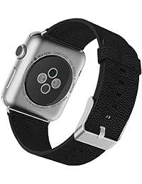 Apple Watch Correa, JETech 38mm Cuero de Búfalo Correa Muñeca Banda Reemplazo con Broche de Metal para Apple Watch Todos los Modelos 38mm (Negro)
