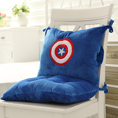 Hebao Cute Büro Sitzkissen ein Cartoon verdickte student Sitzkissen Siam Kissen Stuhl Kissen, Siam Kissen 40*80cm, Captain America (Captain America-spiele F)