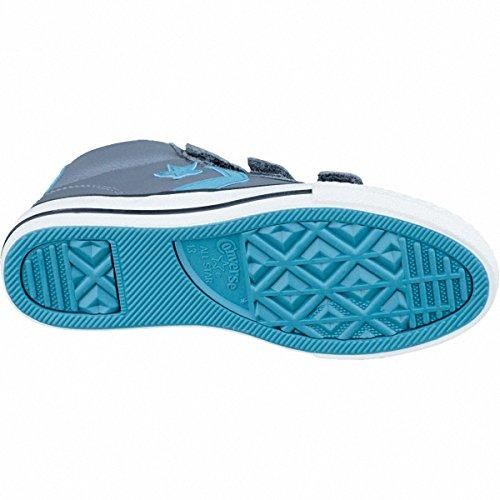 Converse Cons Star Player EV 3V Mid Jungen Leder Sneaker grau, Textilfutter, 3337108/31 Grau