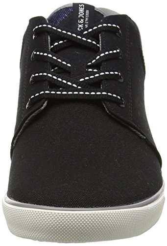 Jack & Jones Jjvertigo Canvas Sneaker Anthracite, Chaussons montants homme Noir (Anthracite)