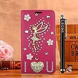 Locaa(TM) For Nokia Lumia 1020 Nokia1020 Lumia1020 3D Bling Case Funda 3 IN 1 Accesorios Funda Bumper Shell Caso Alta Calidad Piel Cuero Para Protector Dura Cover Cas [1] Rosa - Amar ángel