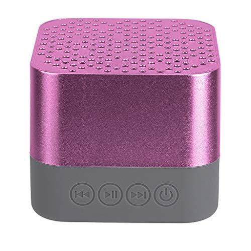 Enceinte Bluetooth Portable Puissante Pas Cher Haut-Parleur Bluetooth Portatif Stéréo HD Subwoofer Micro et Basses Renforcées Port Aux,USB,TF Cube Or Rose