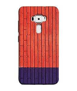 Snapdilla Designer Back Case Cover for Asus Zenfone 3 ZE552KL (5 Inches) (Cloth Material Illustration Wallpaper Background Decoration Blue)
