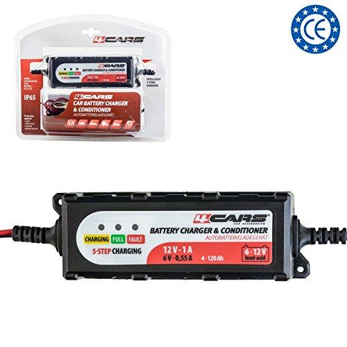 Smart Autobatterie-Ladegerät / Maintainer / Conditioner, 12 Volt vollautomatisches 5-stufiges Ladegerät, bis zu 1,0 A bewertet, IP65