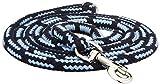 Dinoleine Hundeleine, Längenverstellbar, Inkl. Standard Messing-Karabiner, Natürliche Baumwolle, Maße: 130-220 cm, Marine/Babyblau, 101419