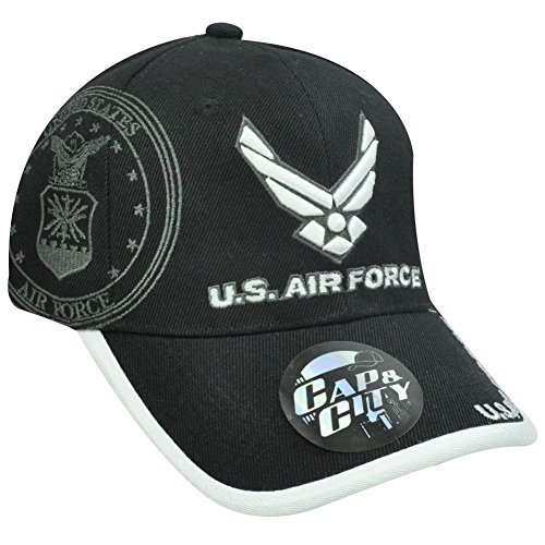 us-air-force-military-seal-licensed-black-white-hat-cap-by-cap-city