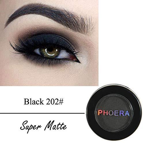 Lidschatten Palette Unter 5 Euro Glitzer,PHOERA Cosmetic Matte Lidschatten Creme Lidschatten Makeup Cosmetic,Schwarz