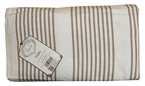 Telo mare lettino con cuscino tasche sacca palau rigato sophie (beige)
