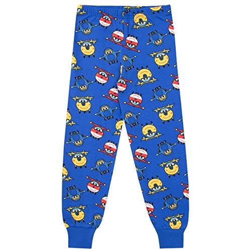 Super Wings Pijama para Ni/ños Jett y Donnie Ajuste Ce/ñido