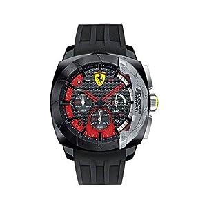 Ferrari hombre-reloj analógico de cuarzo para la DINA adaptador Chrono de silicona 0830205 de Ferrari