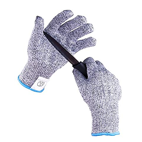 Premium Cut Proof Gloves By Spotty Elephant - Knife Slash Resistant Food Grade Safety Material - EN388 Compliant High Performance Level 5 Cut Protection - Machine-Washable (XL, Grey)
