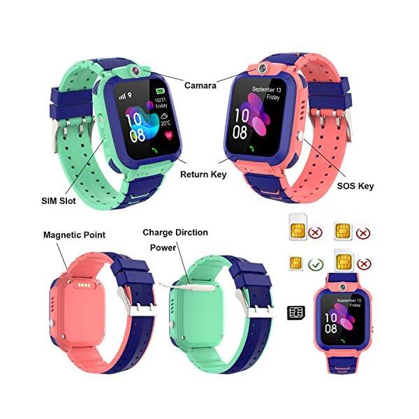 GPS LBS Tracker Smartwatch Niños – Reloj Inteligente Niña con SOS