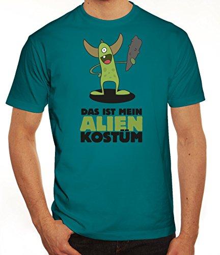 Fasching Karneval Herren T-Shirt mit Das ist mein Alien Kostüm 5 Motiv von ShirtStreet Diva