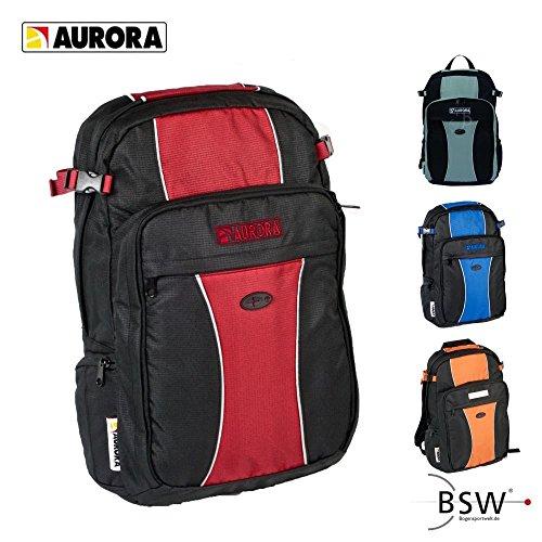 AURORA Archery - Rucksack schwarz/rot