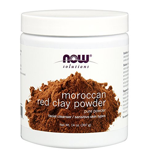 NOW Foods - Facial Cleanser Moroccan Red Clay Powder - 14 Unze. -